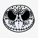 Disney Iron On Patch by Loungefly - Jack Skellington - Sugar Skull
