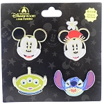 Disney Booster Pin Set - Shanghai Disney Resort - Character Faces