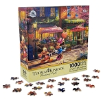 Disney Thomas Kinkade Puzzle - Mickey and Minnie Sweetheart Cafe