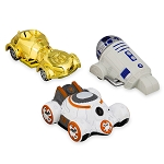 Disney Racers - Star Wars Droid  Die Cast Set - C-3PO R2-D2 and BB-8