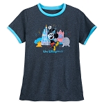 Disney Women's Shirt - Mickey Disney World Celebration Ringer