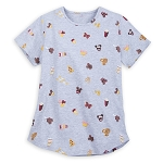 Disney Women's Shirt - Disney Parks Food Icons - Allover Print