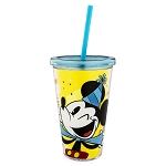 Disney Tumbler with Straw - Celebrate Mickey Mouse