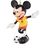 Disney Ornament - Mickey Playing Soccer