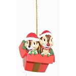 Disney Ornament - Chip n Dale in a Present