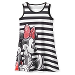 Disney Girl's Dress - Mickey and Minnie Mouse Striped Dress