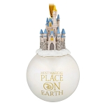 Disney Figure on Ball Ornament - Cinderella Castle - Most Magical Place On Earth