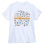 Disney Adult Shirt - Disney World Logo and Icons