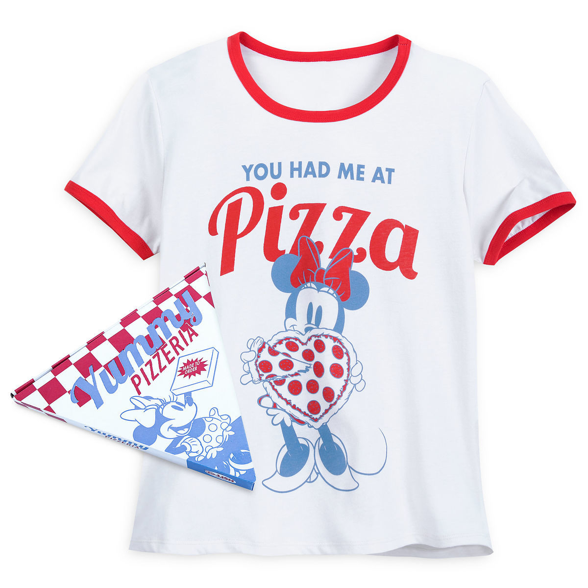 d9d57099992c Add to My Lists. Disney Women's Shirt - Minnie Mouse Pizza Ringer ...