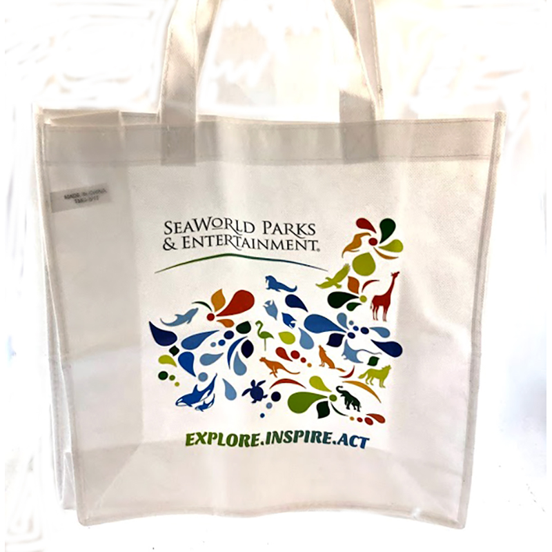 SeaWorld Reusable Tote Bag - Explore, Inspire, Act
