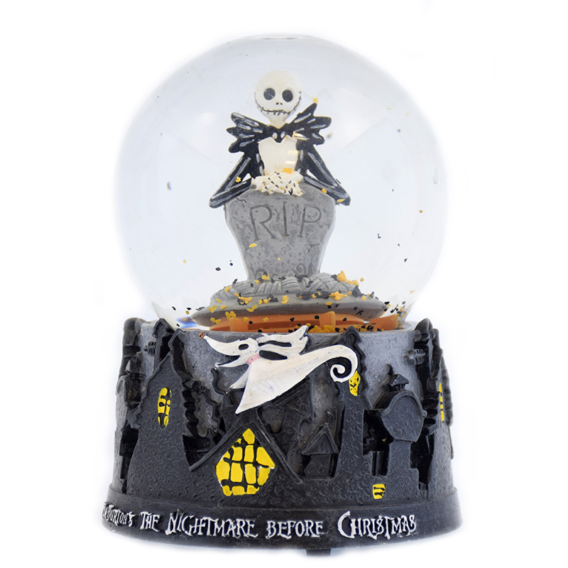 Jack Skellington RIP Snow Globe