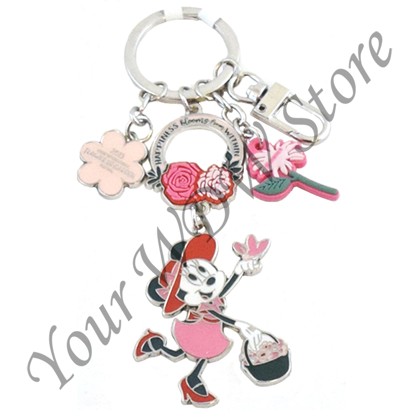 Disney Epcot Flower /& Garden 2019 Minnie Happiness Bloom Keychain New with Tags