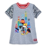 Disney Girl's Shirt - Celebration Mickey Mouse Sequin T-Shirt