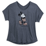 Disney Women's Shirt - Briar Rose Gold Sequined Mickey Mouse T-Shirt