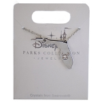 Disney Necklace - Florida with Mickey Icon - Silver