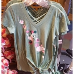 Disney Ladies Shirt - Epcot Flower and Garden 2019 Minnie Blooms Green