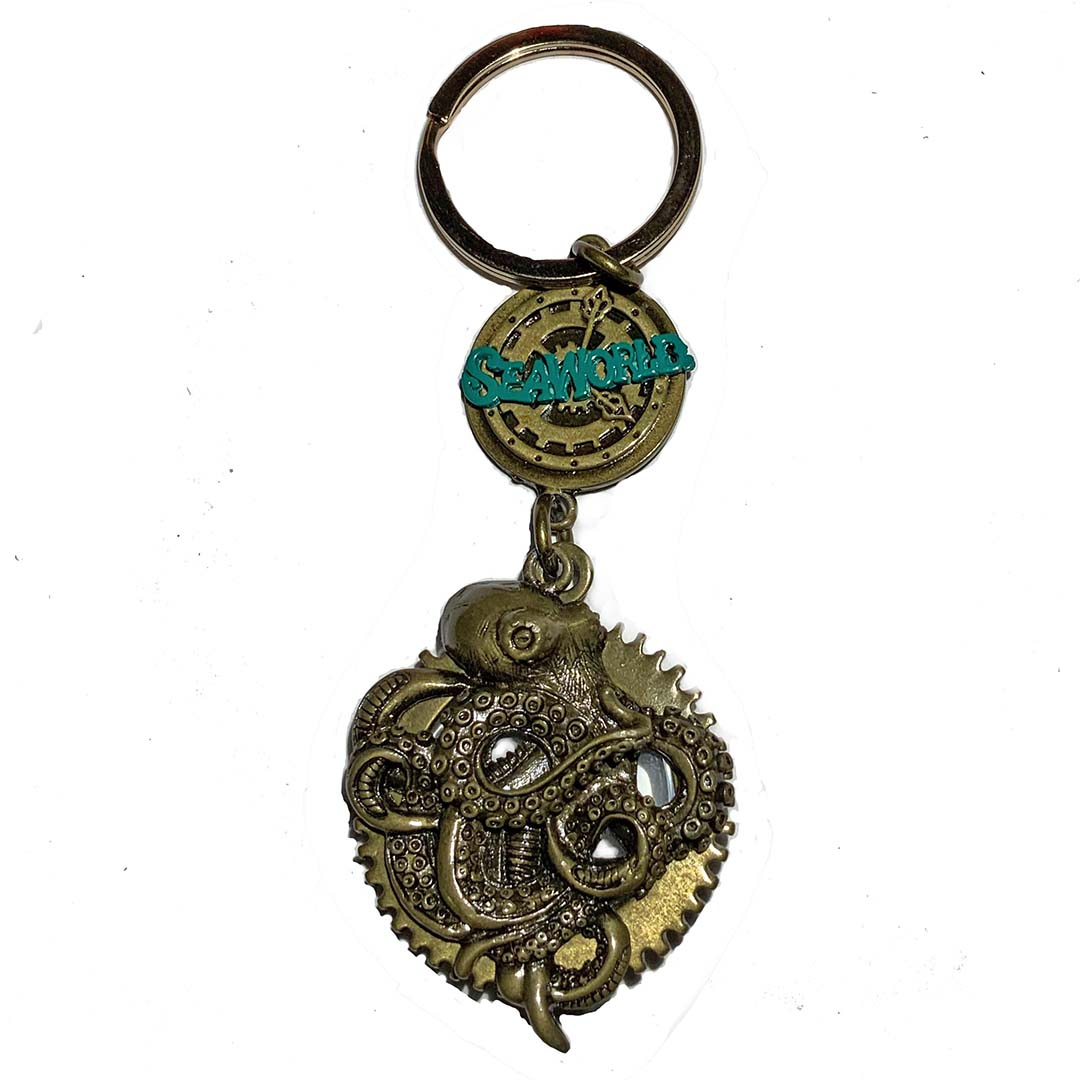 SeaWorld Keychain - Steampunk Octopus with Magnifier