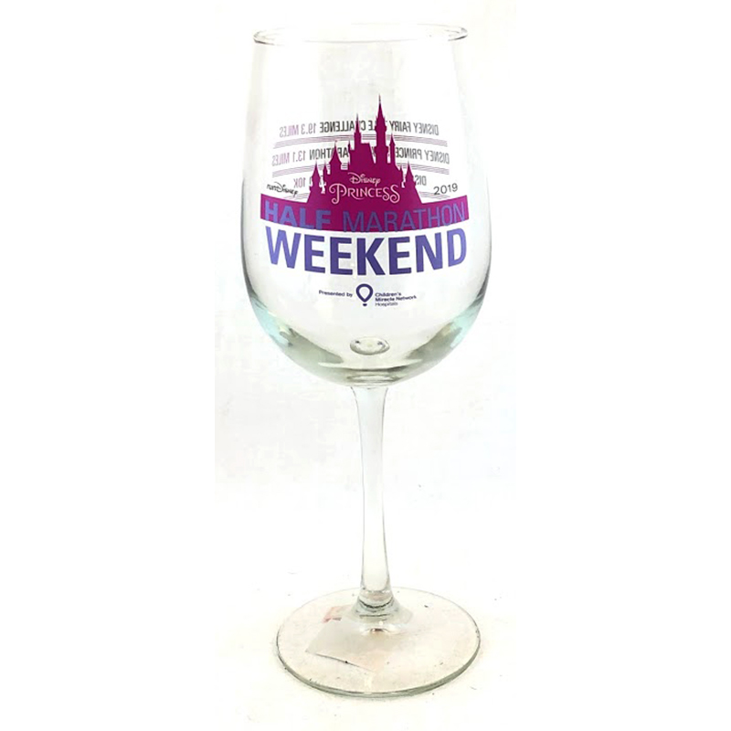 Disney Wine Glass - Princess Half Marathon Weekend - 2019