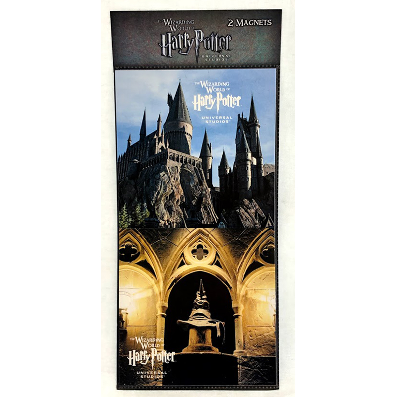Universal Magnet Set - Hogwart's School & Sorting Hat - Wizarding World of Harry Potter