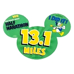 Disney Auto Magnet - WDW Half Marathon Donald Duck 2019 - I Did It!