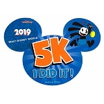 Disney Auto Magnet - WDW 5K Marathon 2019 - Oswald - I Did It!