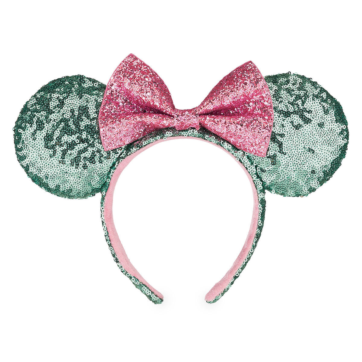 Disney Minnie Ears Headband - Vanellope - Mint and Pink Sequins