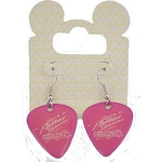 Disney Earrings - Rock 'n' Roller Coaster Guitar Pick - Pink