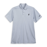 Disney Men's Shirt - Mickey Mouse Polo for Men - Grey