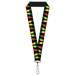 Designer Pin Lanyard - Christmas Lights