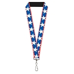 Designer Pin Lanyard - Stars and Stripes