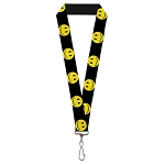 Designer Pin Lanyard - Smiley Faces