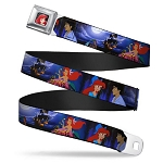 Disney Designer Seatbelt Belt -  Ariel and Prince Eric in the Moonlight