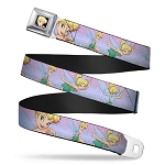 Disney Designer Seatbelt Belt - Tinker Bell Poses - Purple Pink Fade