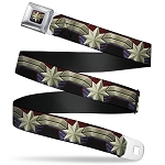 Disney Designer Seatbelt Belt - Captain Marvel Gold Flare