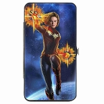Disney Designer Hinged Metal Wallet - Captain Marvel Photon Blast Fists