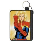 Disney Designer Canvas Zipper Wallet - Mini Extra Small - Captain Marvel