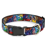 Disney Designer Breakaway Pet Collar - Beauty and the Beast - Stained Glass
