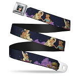 Disney Designer Seatbelt Belt - Aladdin and Jasmine - Magic Carpet