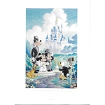 Disney Postcard - Disney Fairy Tale Wedding by Randy Souders