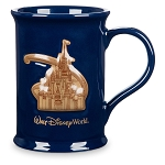Disney Coffee Mug - Cinderella Castle Medallion - Blue