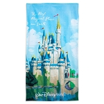 Disney Beach Towel - Cinderella Castle - The Most Magical Place on Earth