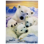 SeaWorld Lenticular Poster - Polar Bear Family