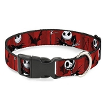 Disney Designer Breakaway Pet Collar - NBC Jack Poses - Red Stripes
