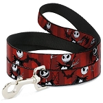 Disney Designer Pet Leash - NBC Jack Poses - Red Stripes