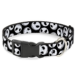 Disney Designer Breakaway Pet Collar - Jack Skellington Faces - B&W
