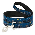Disney Designer Pet Leash - NBC - Jack Zero and Zombie Duck in the Cemetery