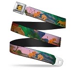 Disney Designer Seatbelt Belt - Lion King - Simba and Nala