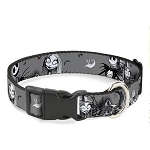 Disney Designer Breakaway Pet Collar - NBC - Jack and Sally in the Cemetery