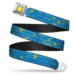 Disney Designer Seatbelt Belt - Beauty and the Beast - Story Script