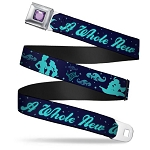 Disney Designer Seatbelt Belt - Aladdin and Jasmine Silhouette